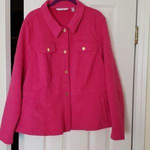 Isaac Mizrahi peplum jacket